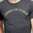 HTML5 T-shirt designer tool - Curved Text